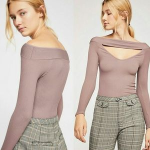 Free People Intimately Find Me Long Sleeves Taupe